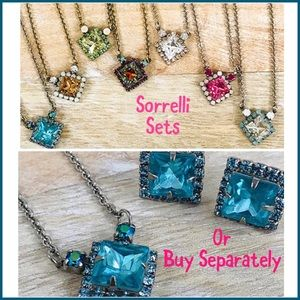 Sorrelli Square Crystal Pendant OR Earrings, NWT